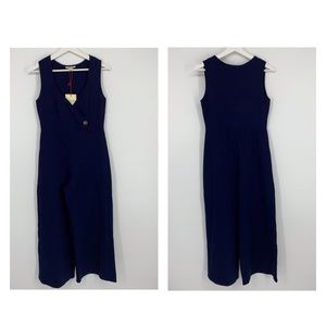 Rolla Coster Wide Leg Navy Jumpsuit Size M H96